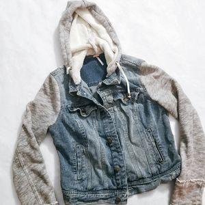 FREE PEOPLE Denim Jean Sweater Jacket